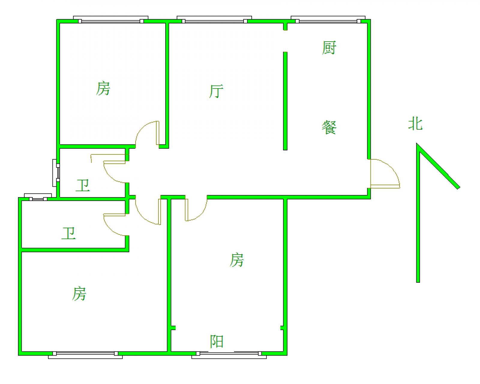锦江国际 3室2厅129.54㎡