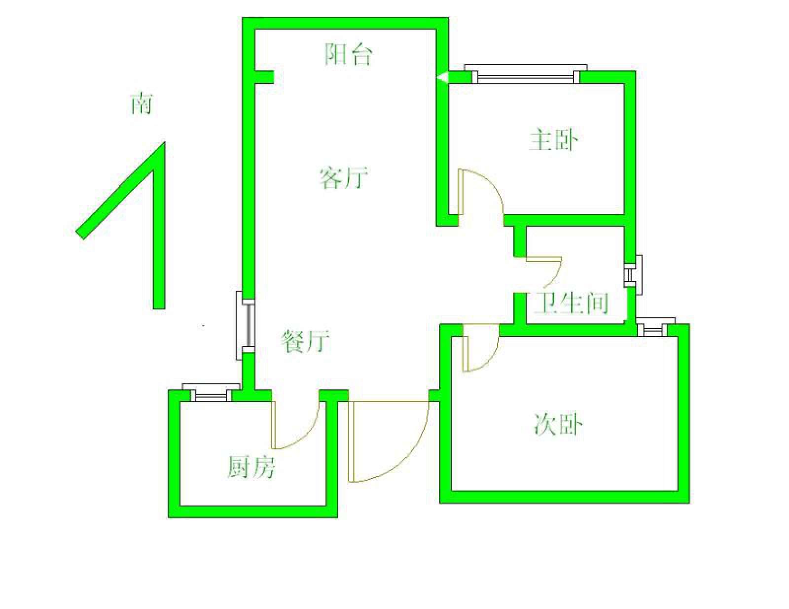 金鹏城 2室2厅78㎡