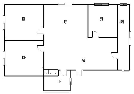 银燕小区 2室2厅110㎡