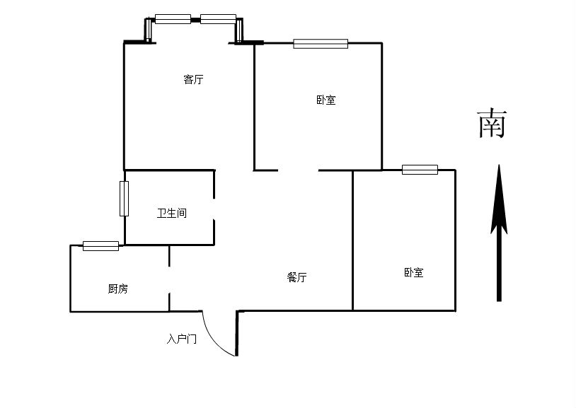 园艺小区 2室2厅80㎡