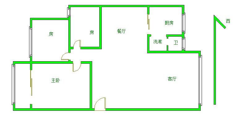 河畔花园 3室2厅136.5㎡