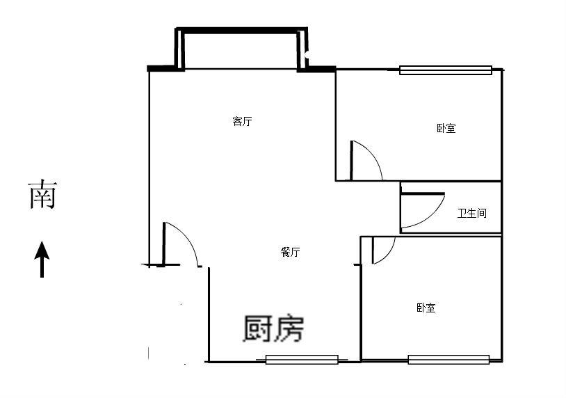 德化小区二期 2室1厅67㎡