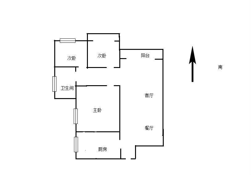 城西港安置小区 3室2厅112.37㎡