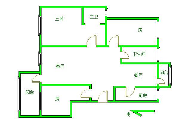 慧龙新城 3室2厅126㎡