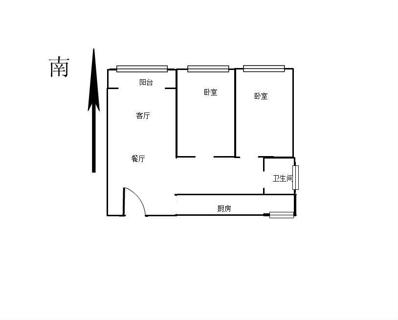天虹公馆 2室2厅87㎡