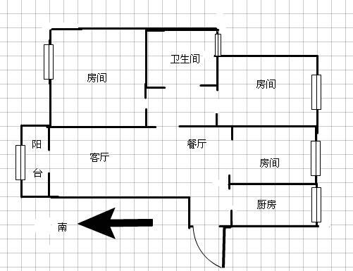 沿浔安置小区 3室2厅102.03㎡
