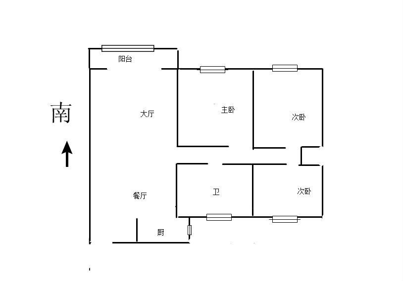 万达华府 3室2厅129㎡
