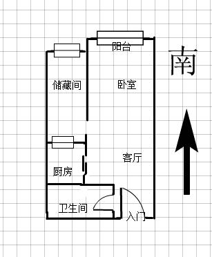远洲九悦廷 2室1厅54㎡