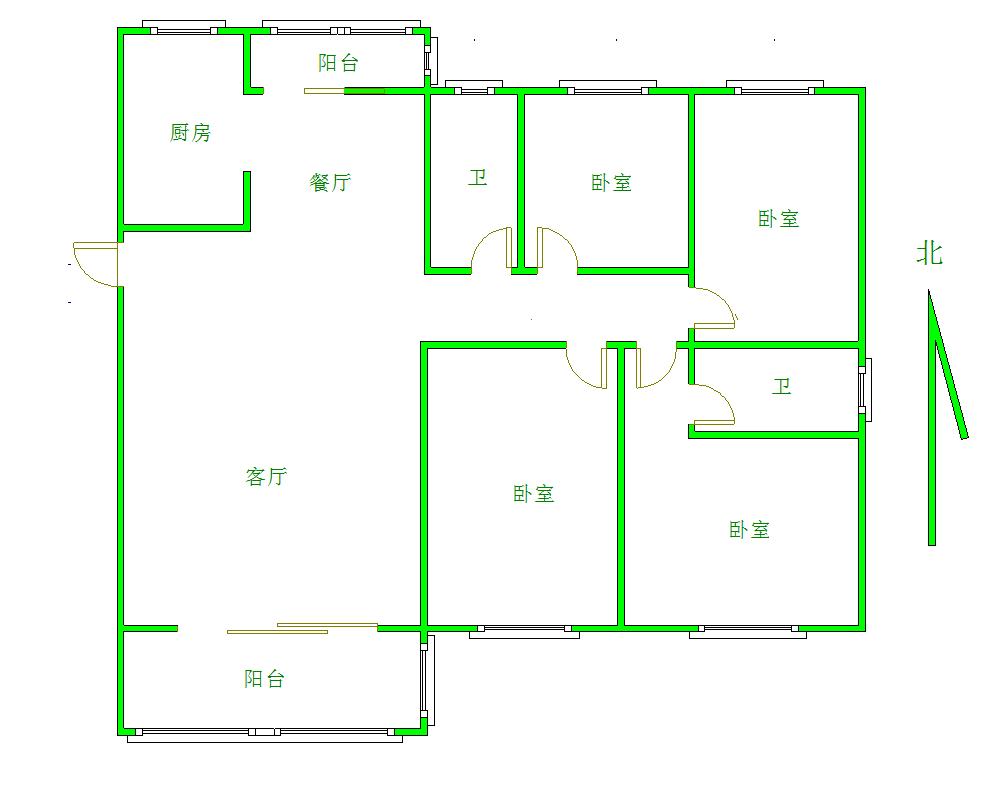 极地盛世名都 4室2厅140㎡