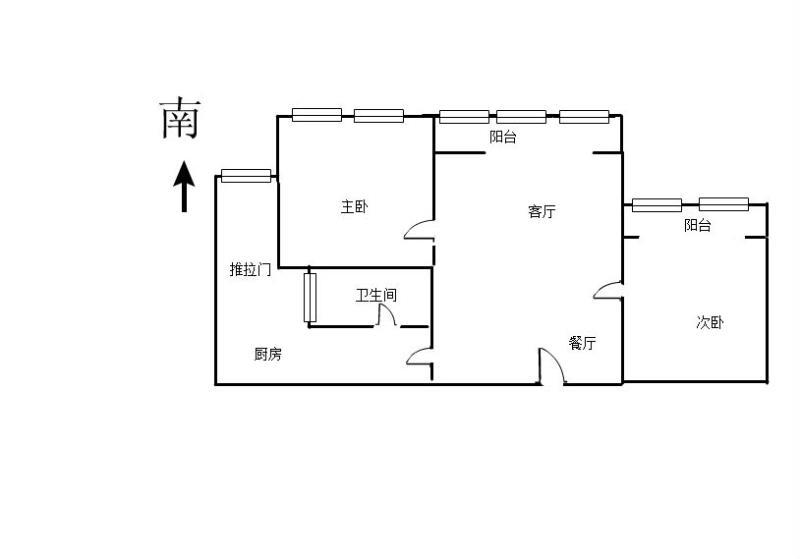 阳光国际 2室2厅88㎡