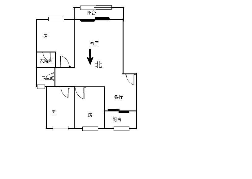 润景台 3室2厅104㎡