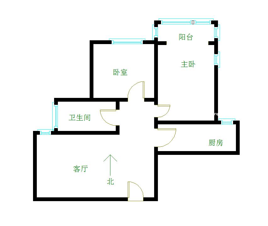 花果园安置小区 2室2厅67.98㎡