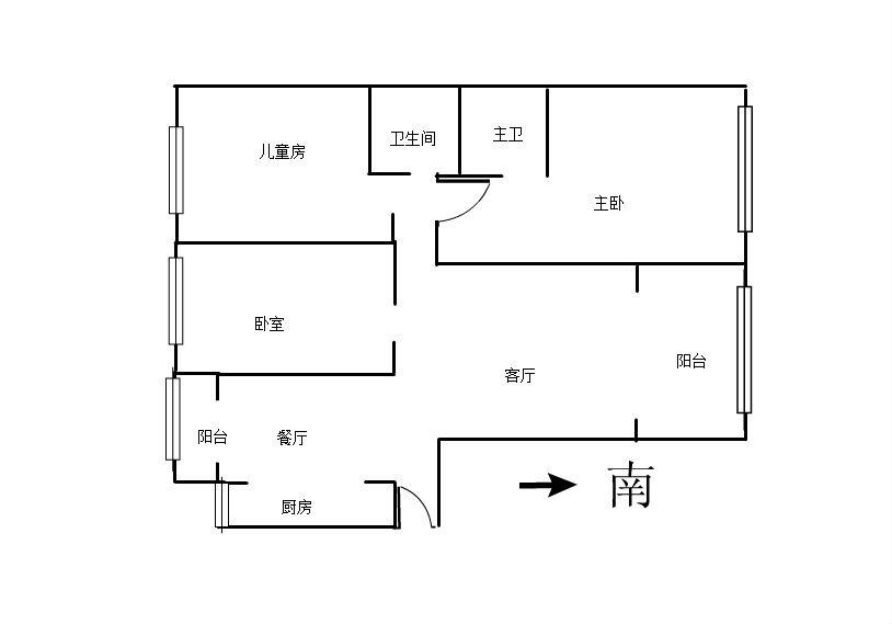 国豪山景城 3室2厅124㎡