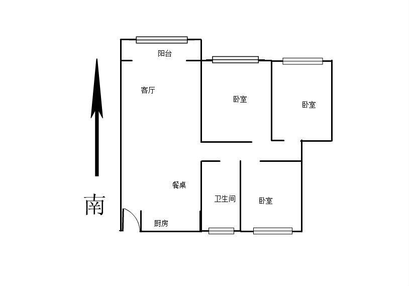 万达华府 3室2厅99㎡