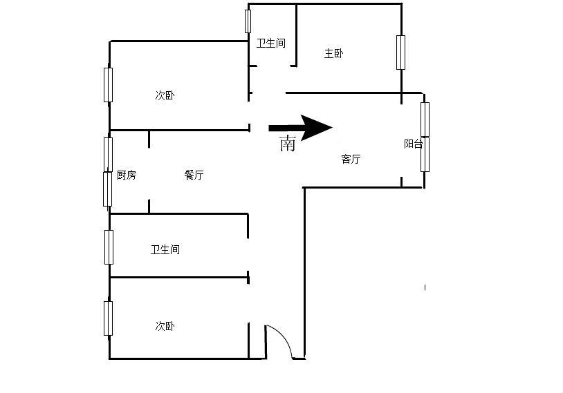 沿浔安置小区 3室2厅102.2㎡