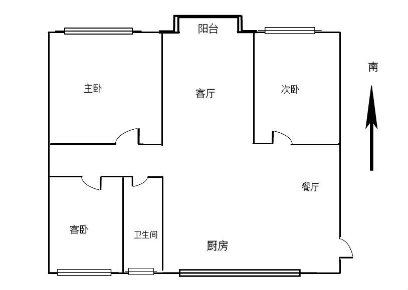 日报社附近 3室2厅112㎡