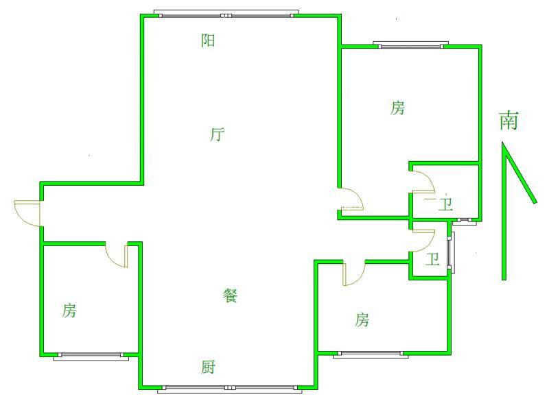 锦江国际 3室2厅130㎡
