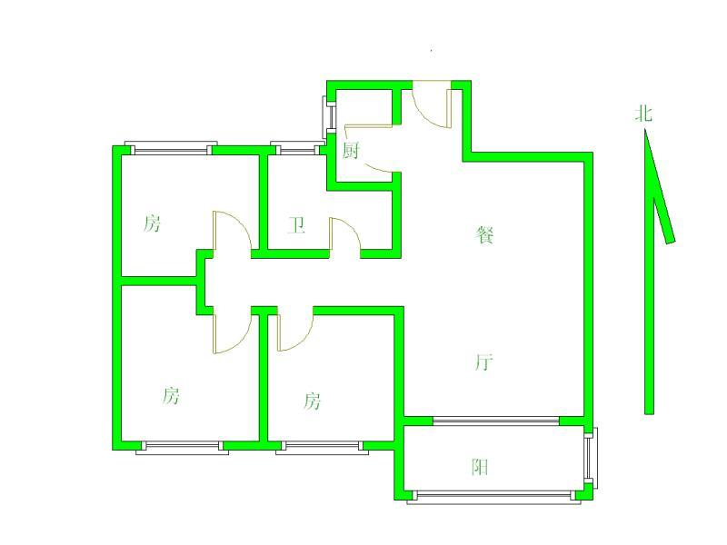 瀚林国际花园 3室2厅97.61㎡