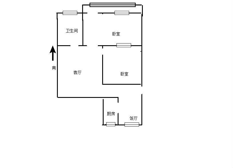 大桥五处 2室2厅70.63㎡