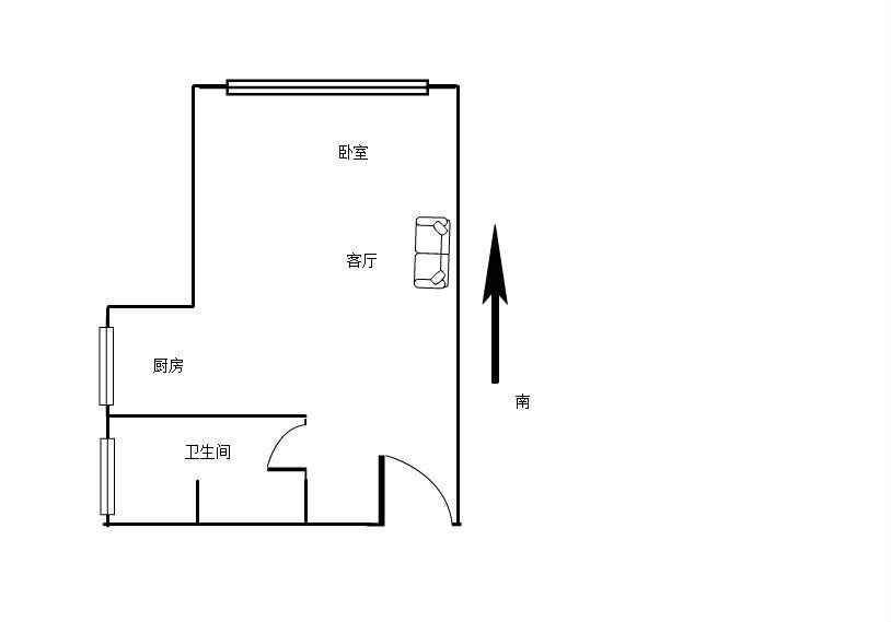 远洲九悦廷 1室1厅50.17㎡