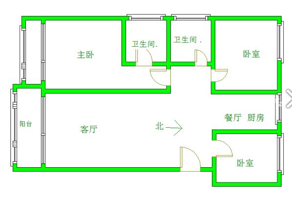 御江一品 3室2厅107㎡