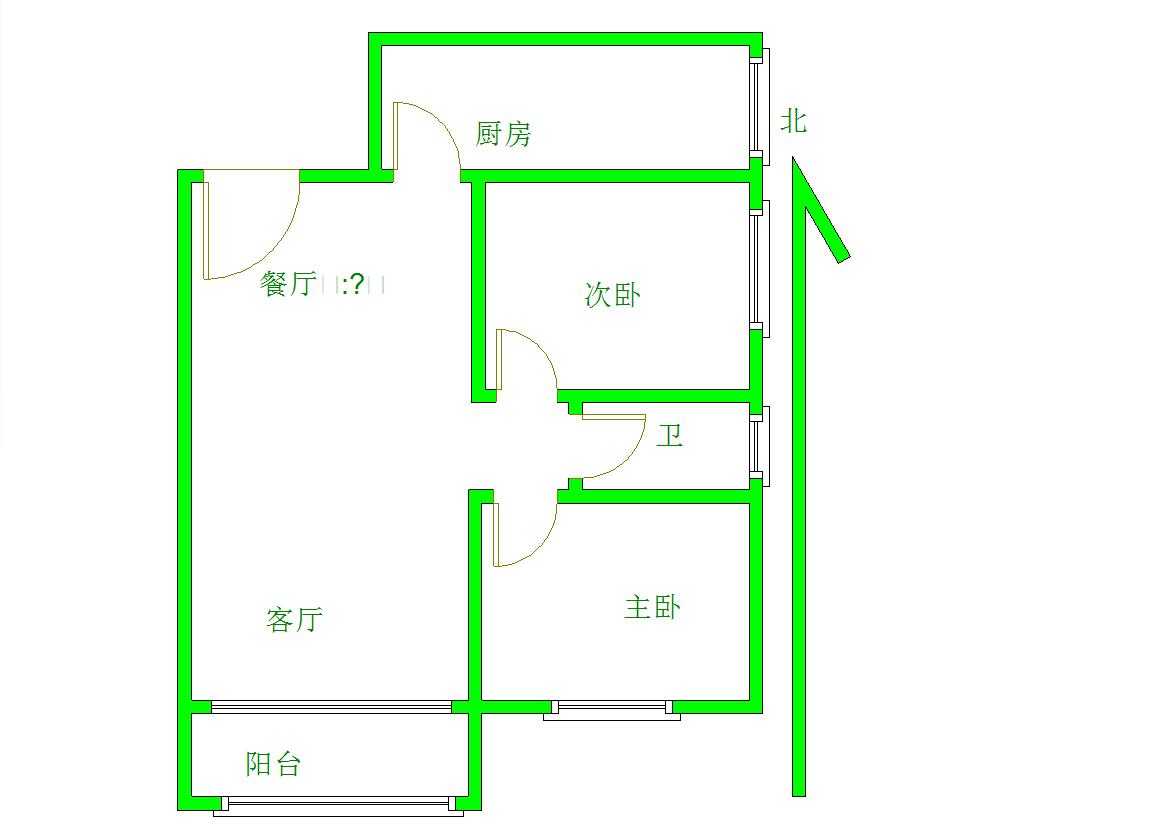 香域半山 2室2厅88㎡
