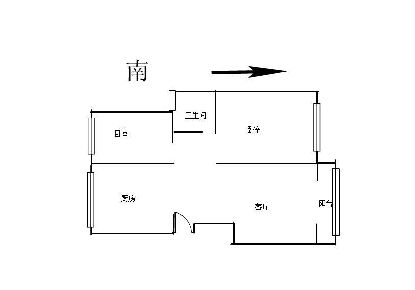 远洲九悦廷 2室2厅83㎡