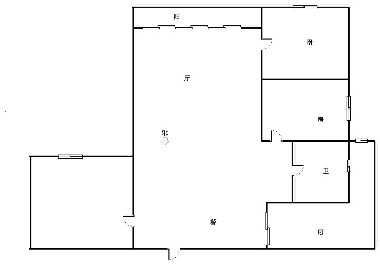 天翼景城 2室2厅1卫 87.4㎡