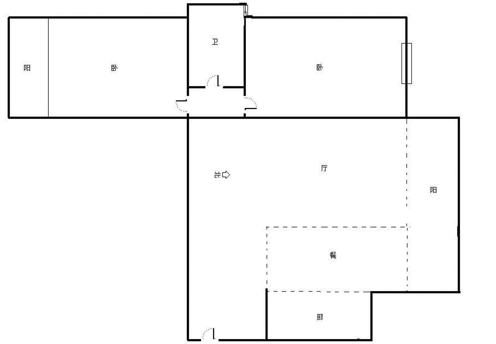 七星大厦 2室1厅108㎡