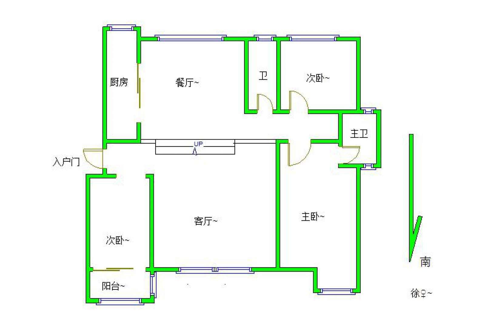 鹤湖学校学区 柴桑春天二区 豪装三房两厅两卫 南北通透采光好房东诚售!