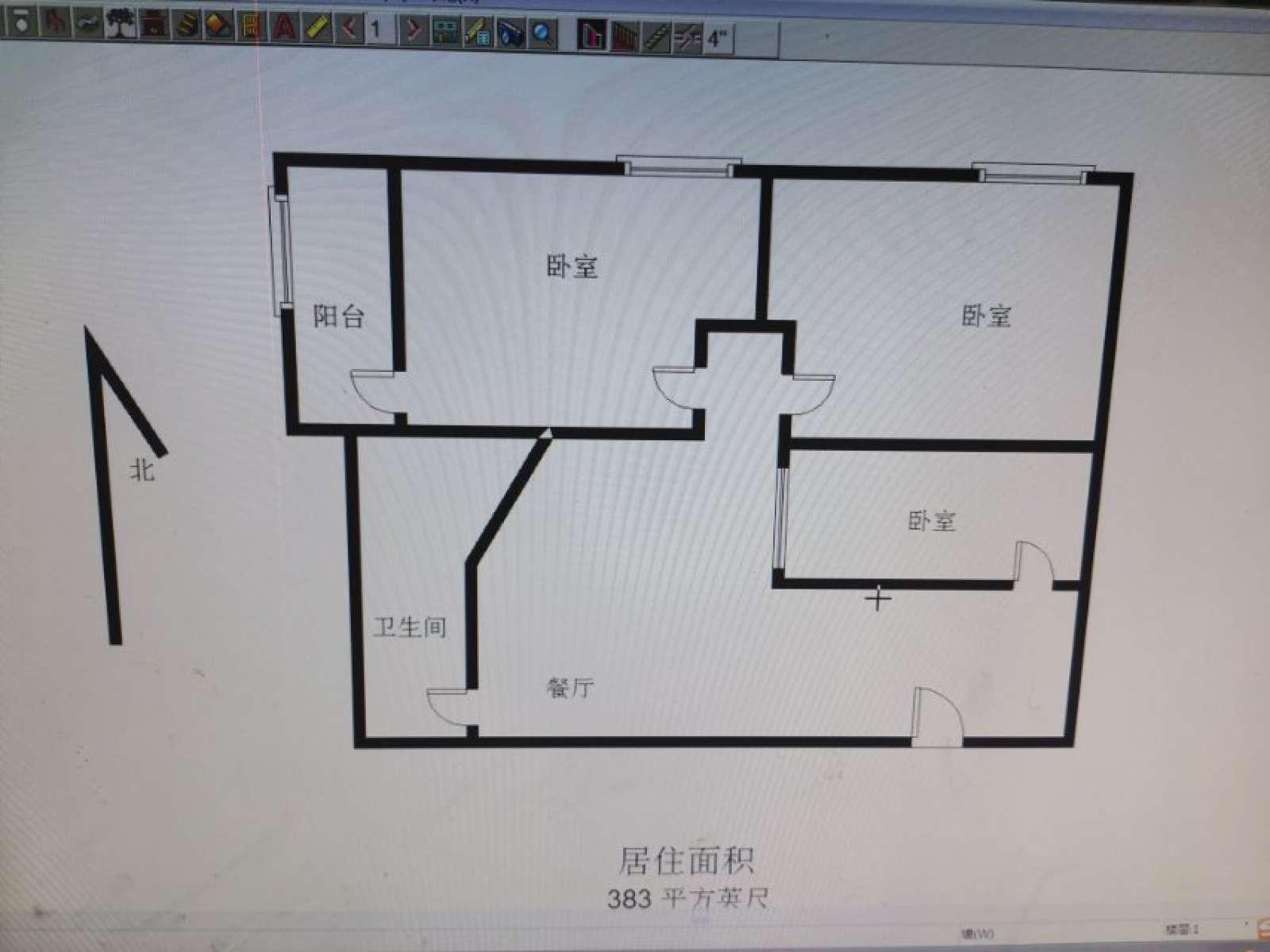 金三角公寓 3室2厅49㎡