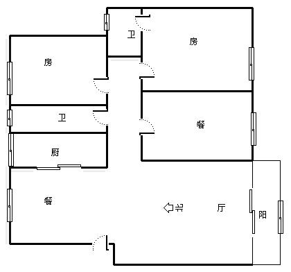 弘雅花园 3室2厅125㎡