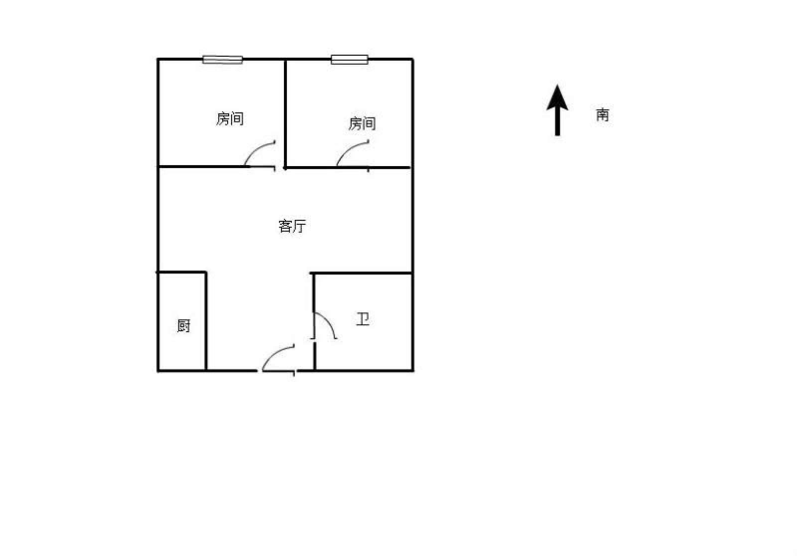 奥克斯缔壹城 2室1厅50㎡