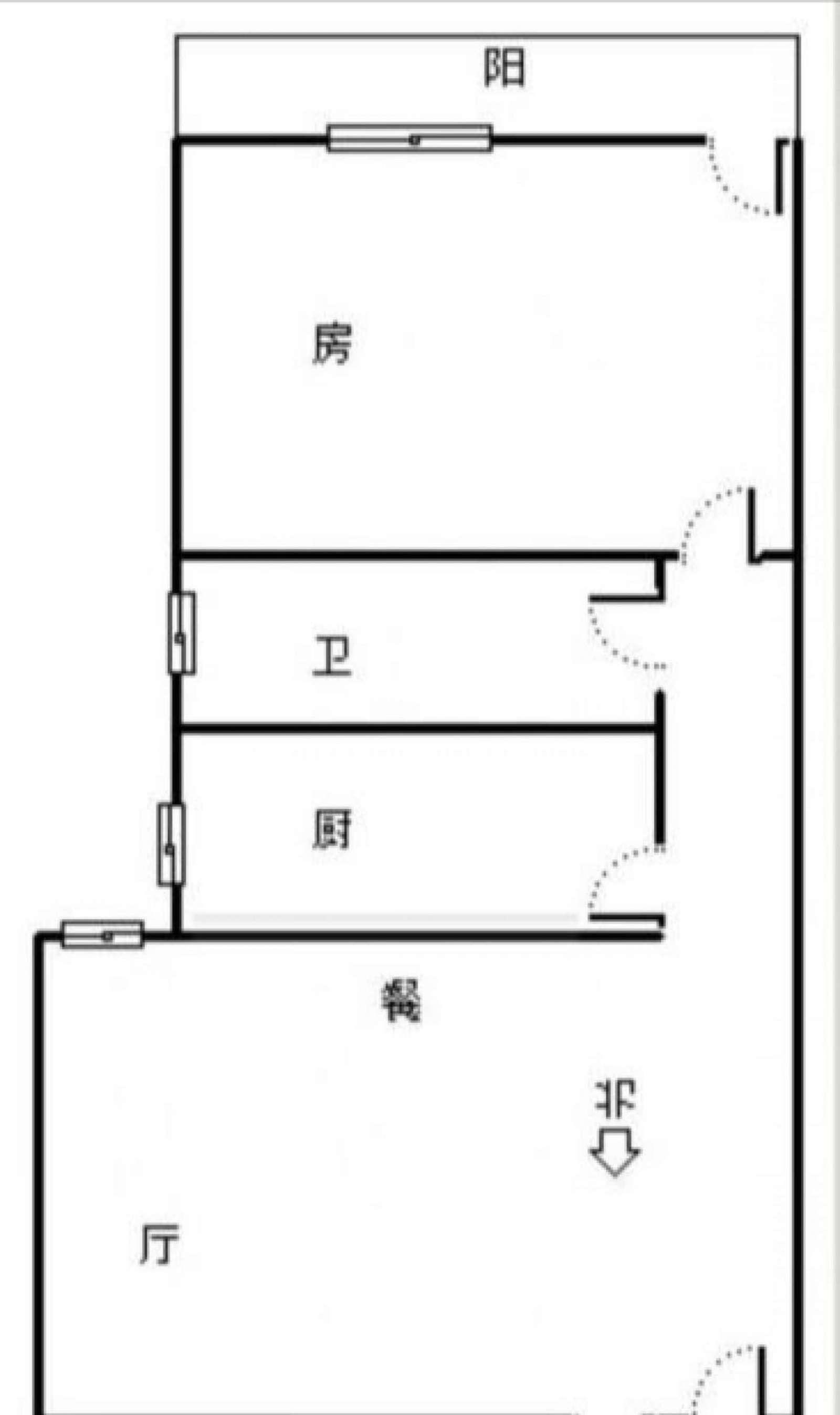 统建大楼 3室1厅90㎡