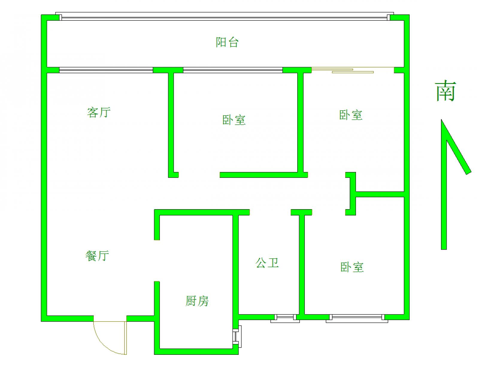 中奥广场 3室2厅99.8㎡
