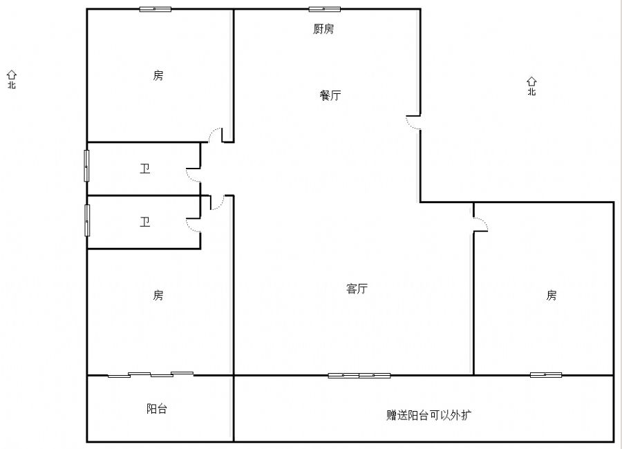 中奥广场 3室2厅116㎡