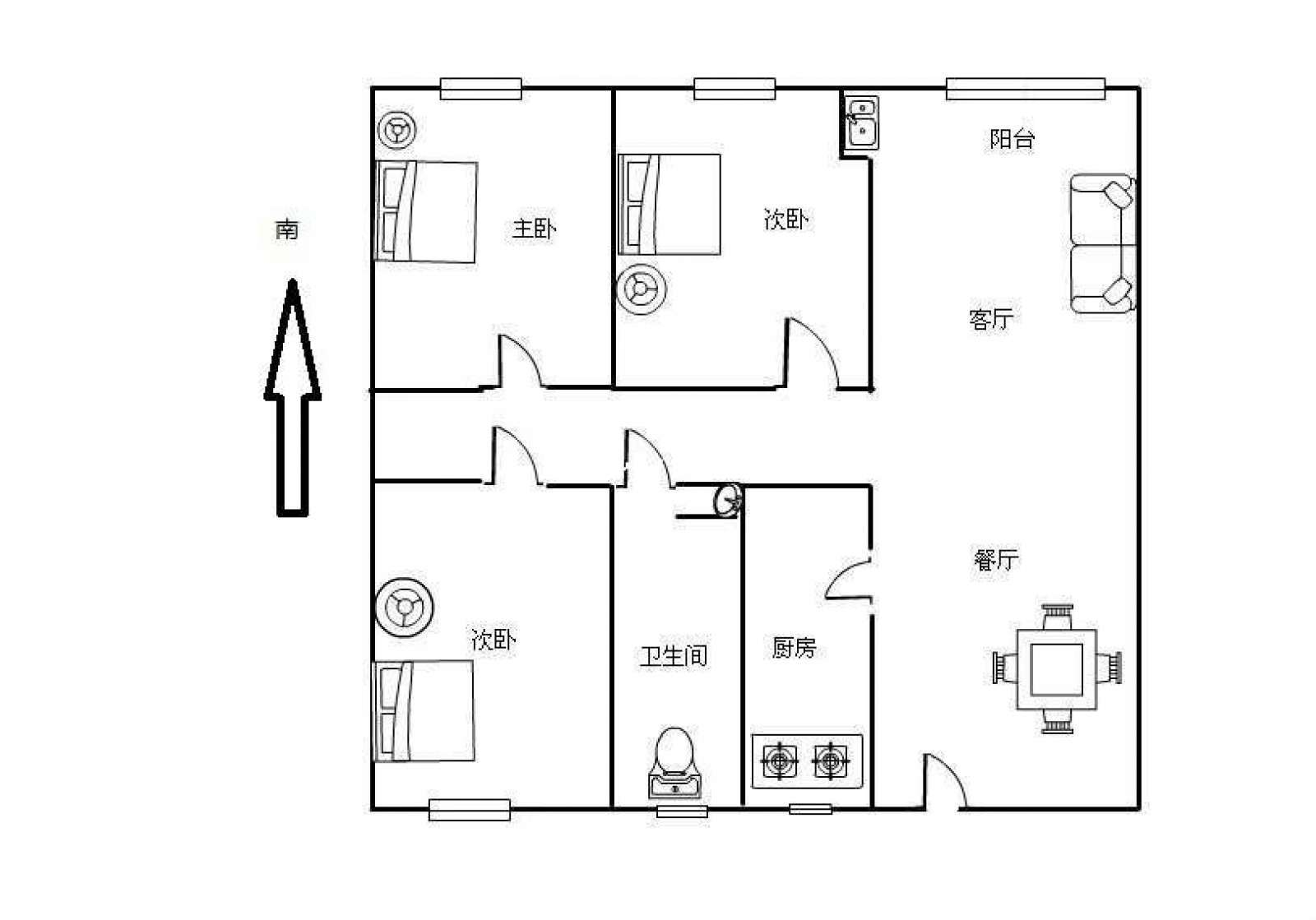 极地盛世名都 3室2厅100㎡