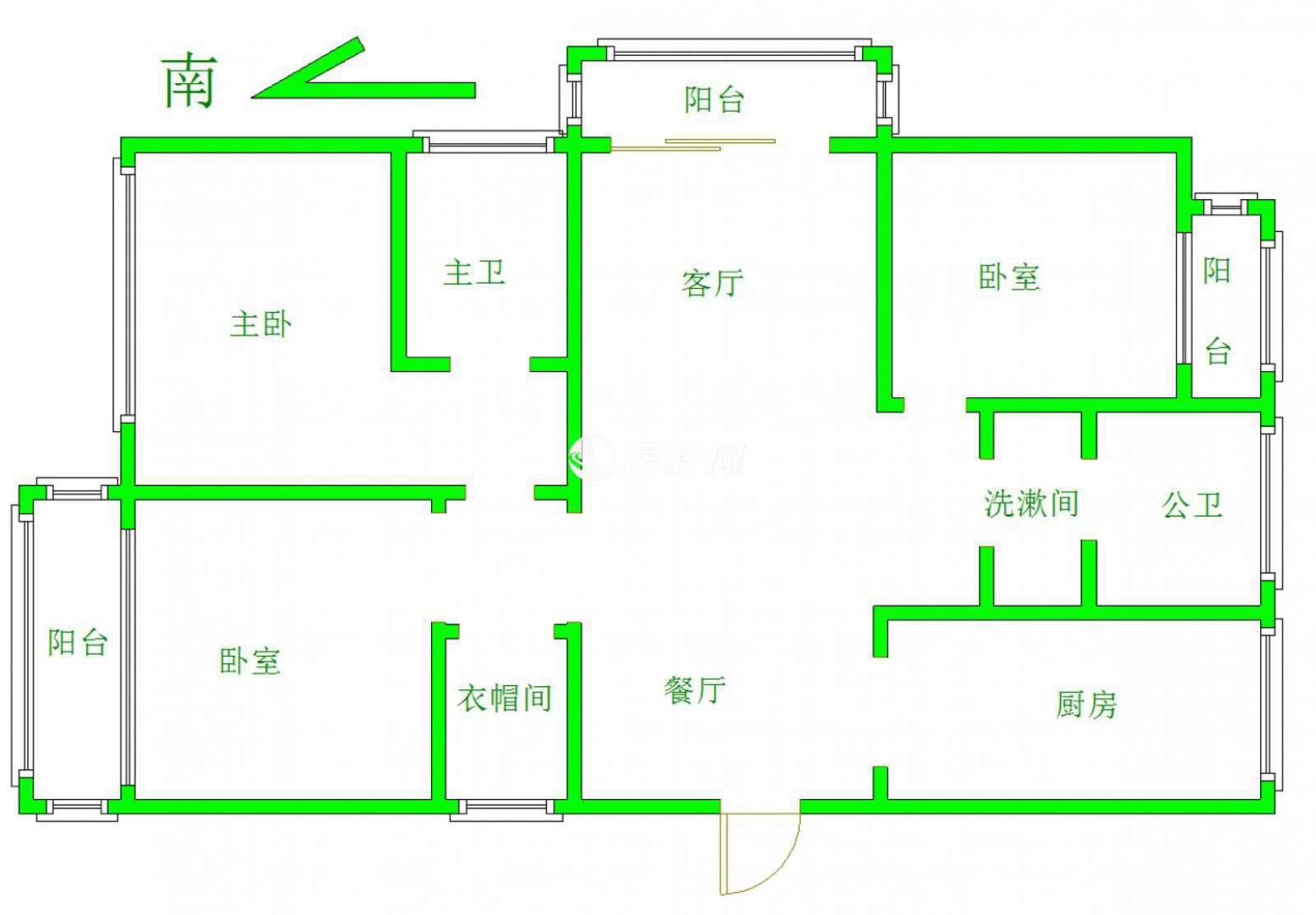 金鹏城 3室2厅113㎡