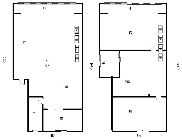 华浔花园 3室2厅124㎡
