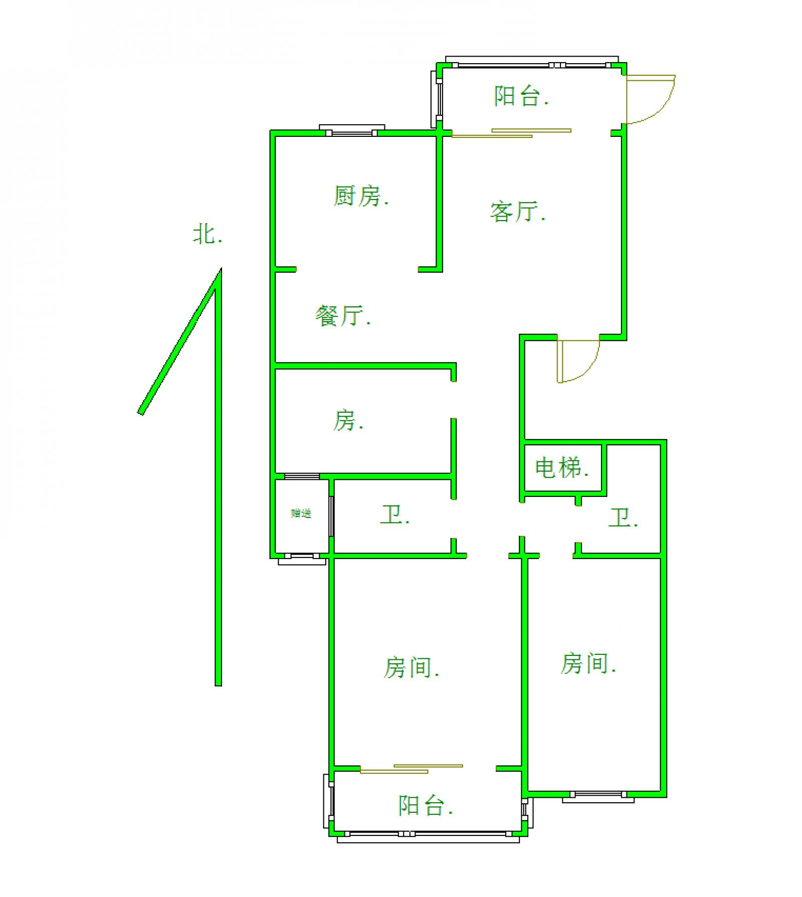 时代尊品 3室2厅125㎡