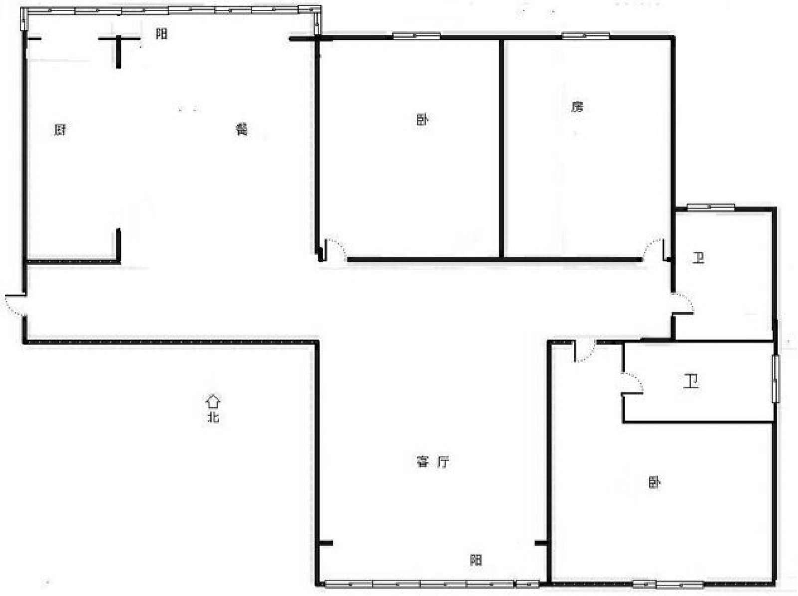 银星花园 3室2厅141.46㎡
