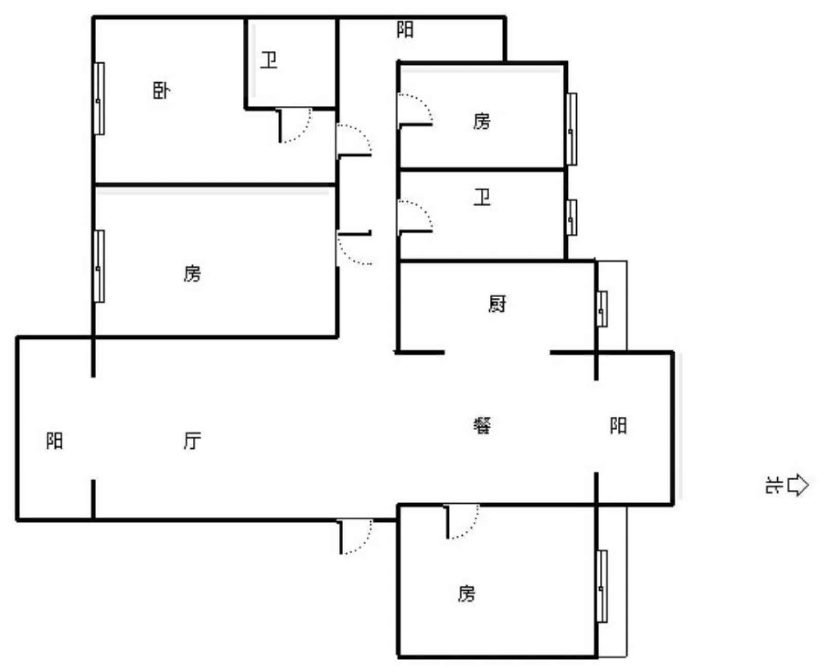 东方紫薇城 4室2厅143.72㎡