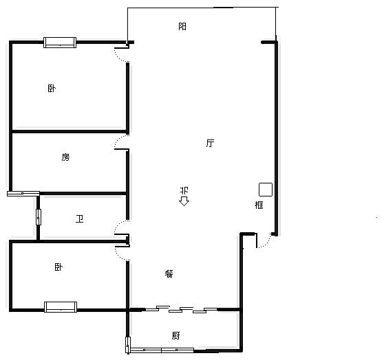 荣昌桂花园 3室2厅90㎡