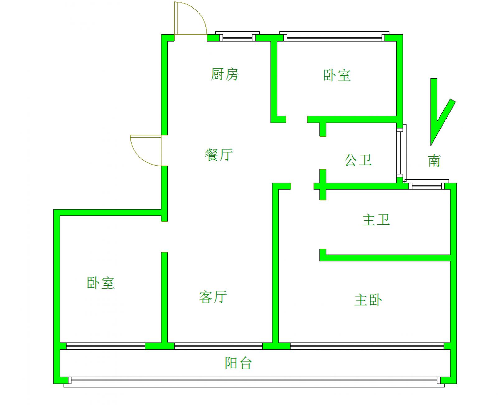 中奥广场 3室2厅132㎡