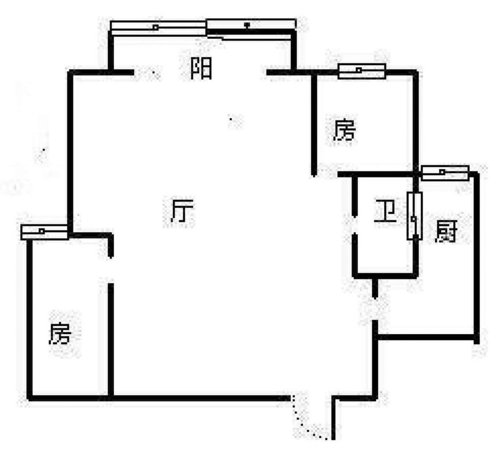 八里坡安置小区 2室2厅90㎡