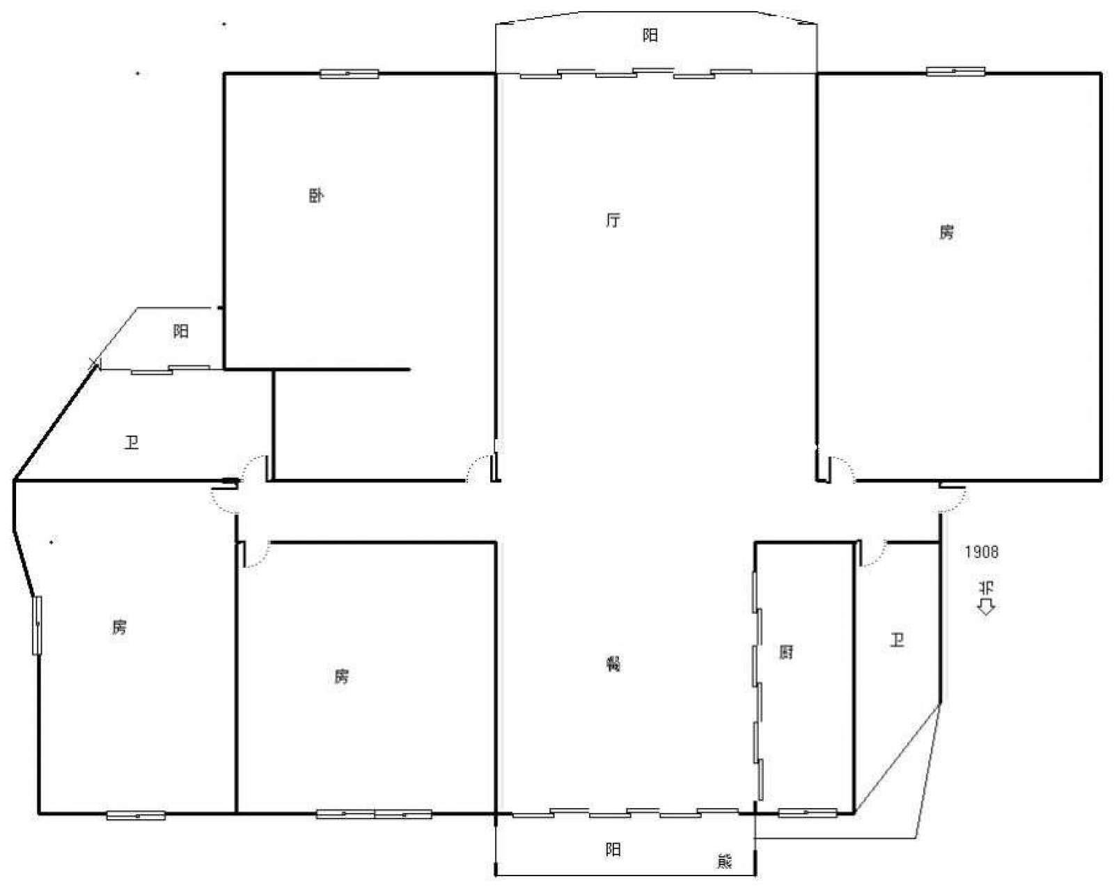 丽景湾 4室2厅182.03㎡
