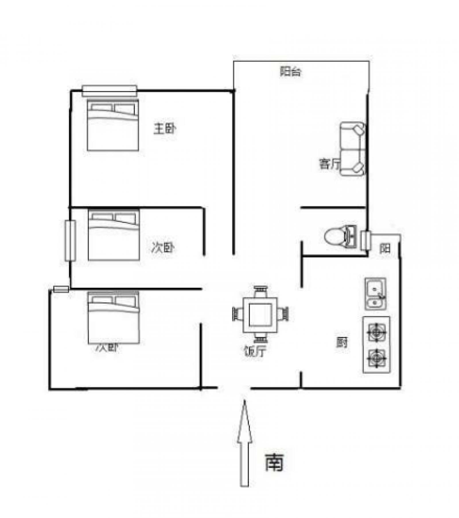 庐山春天 3室2厅96.55㎡