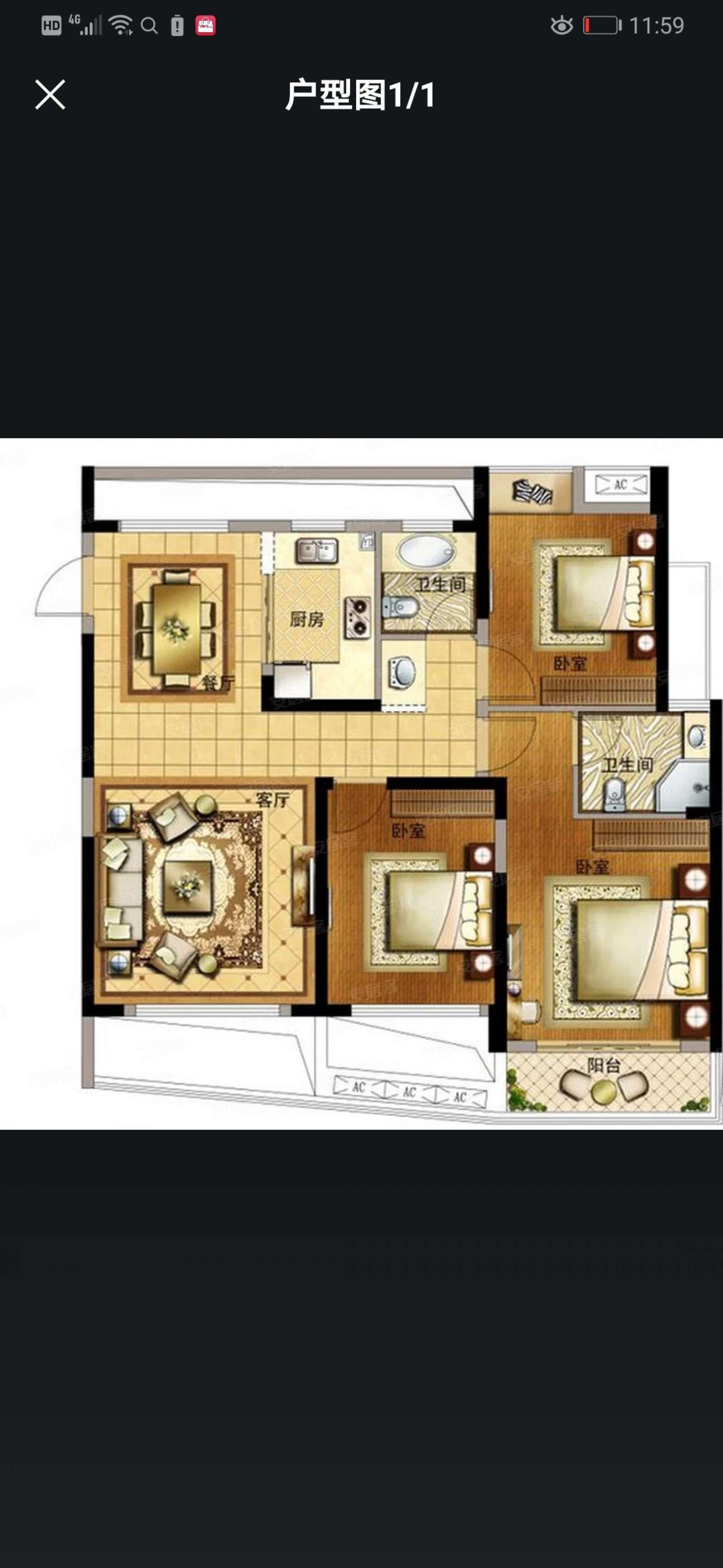 中奥广场 3室2厅117㎡
