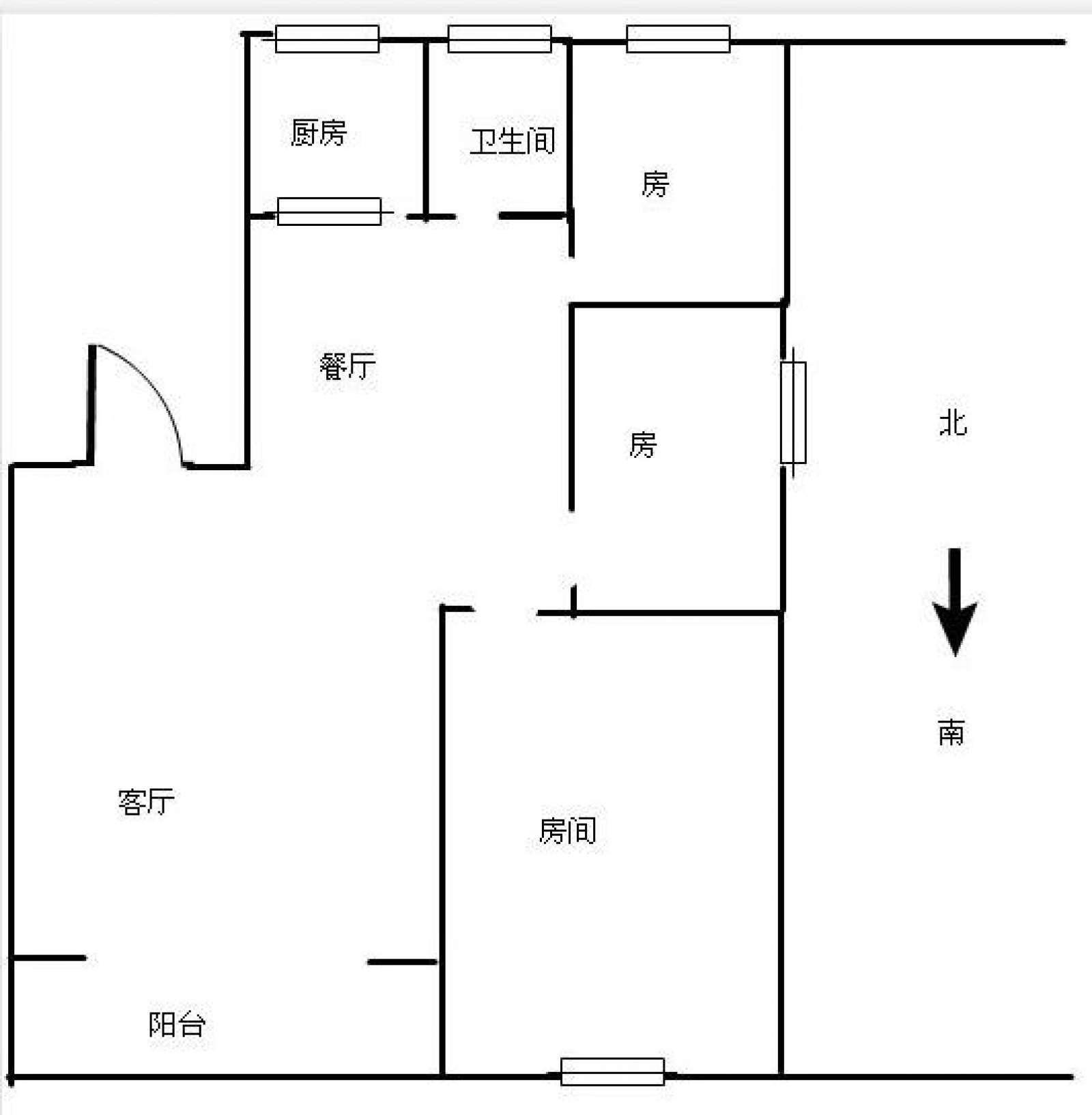 润景台 3室2厅97㎡