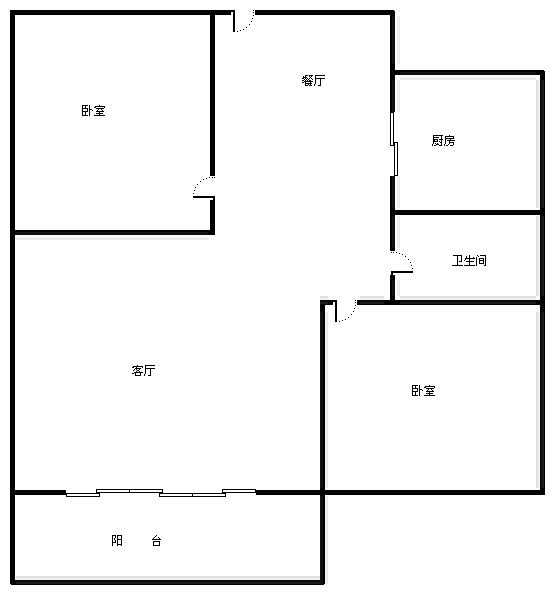 柴桑春天三区 2室2厅88.71㎡